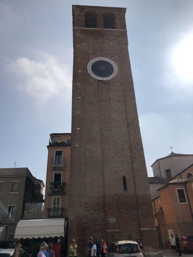 The clock tower in chioggia