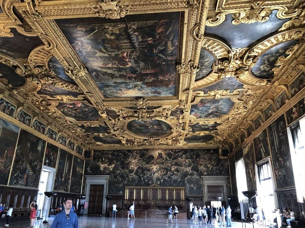 Inside the Doge's palace in Venice