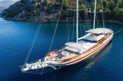 Gulet yacht cruising in Turkey