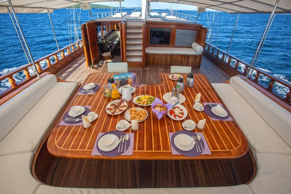 Breakfast on Deck in Turkey